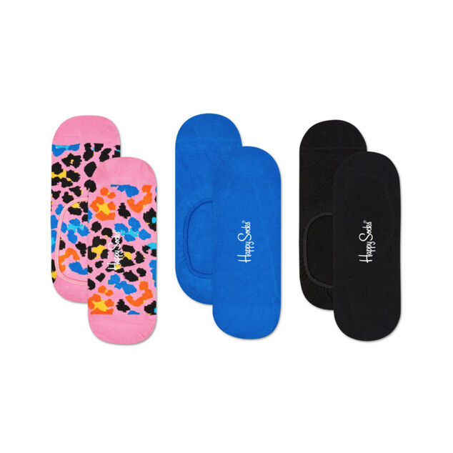 Happy Socks 3-pack liner leopard
