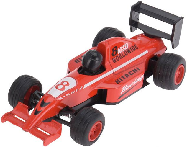 Free and Easy raceauto 13 cm rood