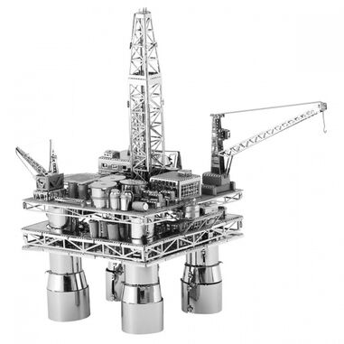 Metal Earth Offshore Oil Rig and Tanker modelbouwset