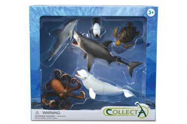Collecta zeedieren: speelset in giftverpakking 6-delig