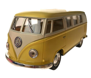 Toys Amsterdam bus Volkswagen T1 1962 pull-back 1:32 staal geel