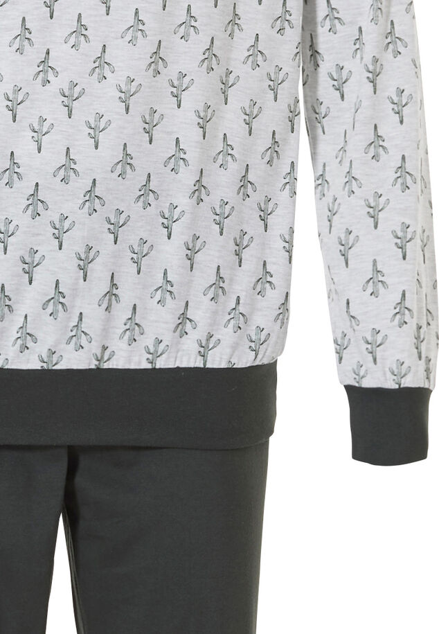 Heren pyjama met boorden 'crazy little cactus'