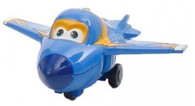 Super Wings model Die-cast Jerome 8 cm blauw