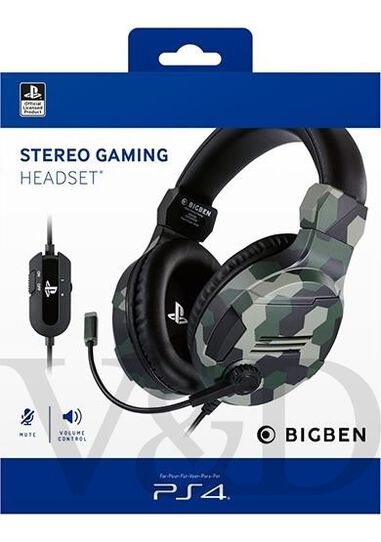 Official stereo gaming headset V3 for PS4 - camo