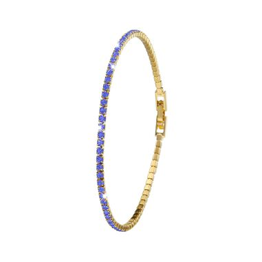 Goldplated armband sapphire crystals