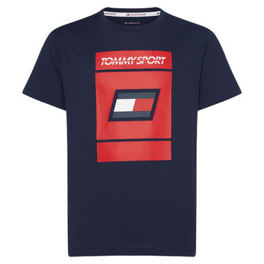 Toy Hilfiger sport t-shirt graphic navy