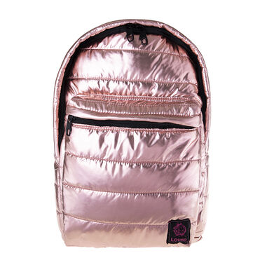 BiggDesign Rugtas - Schooltas - Rugzak - Metallic Tas - Rose