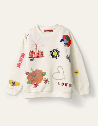 Oilily Heritage sweater- wit