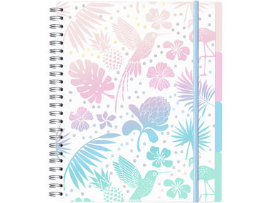 Pretty Paradise collegeblok A4 4-in-1 met 4 PP tabladden