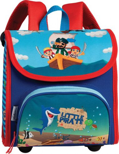 schooltas Little Pirate blauw/rood 8,5 liter