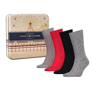 Tommy Hilfiger Heren Sokken Giftbox 4-Pack Multi