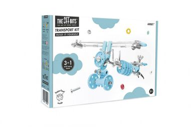 The Offbits bouwpakket Animal Kit Airbit 110-delig blauw