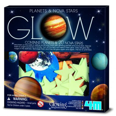 4M Glow in The Dark Pack: Planeten en Supernova Klein
