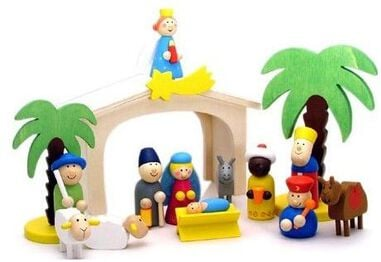 Kerststal Simply for Kids 24x16x11 cm