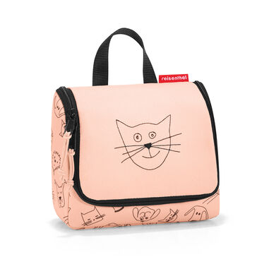 Reisenthel Toiletbag S Kids - Toilettas - Kind - Polyester - Maat S - 1.5 L - Cats&Dogs Rose Roze