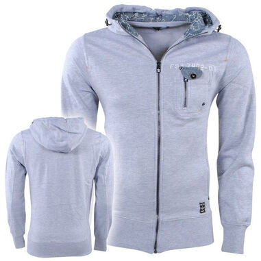 Fire Trap heren vest capuchon sweat borstzak