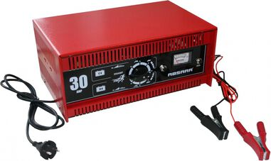 professionele acculader 12/24 Volt 25-350 Ah 40A rood