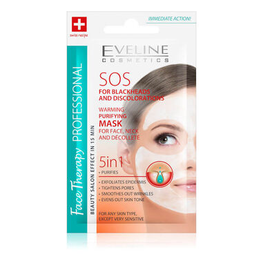 Eveline Cosmetics Face Therapy SOS For Blackheads & Discolorations Warming Purifying Mask 7ml.