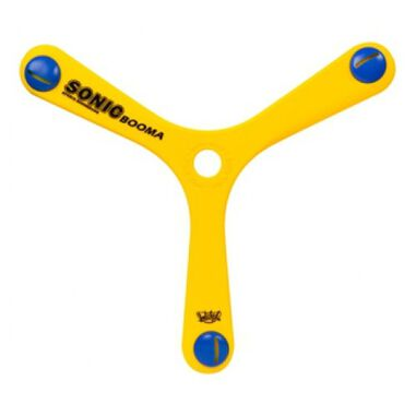 Wicked boomerang Booma Sonic 55 gram geel 27 cm