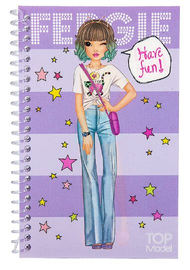 TOPModel Dress Me Up Pocket Stickerboek Paars