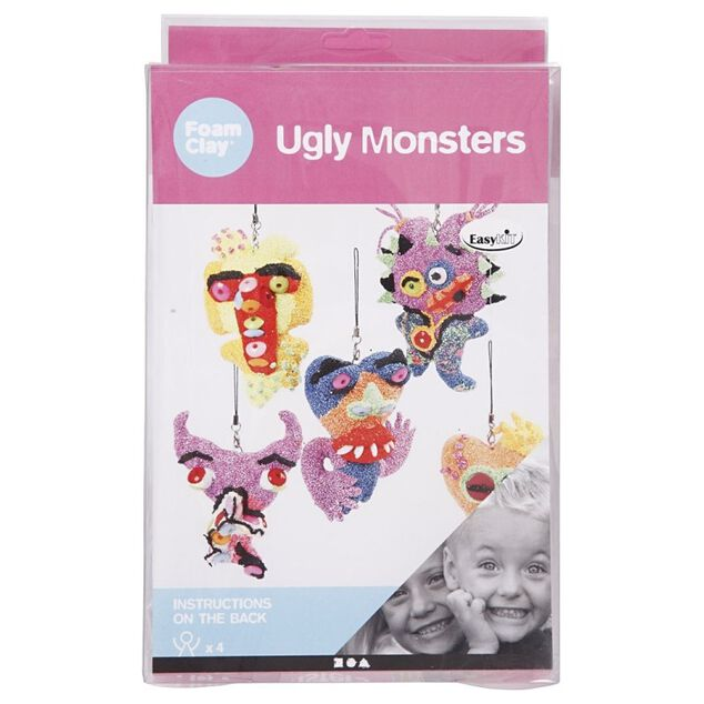 Foam Clay knutselset Ugly Monsters 7-delig