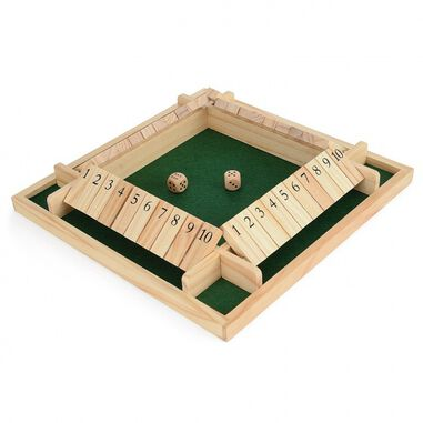 dobbelspel shut the box voor vier spelers
