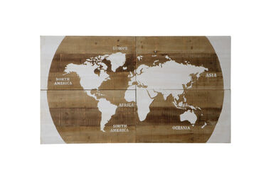 Wooden Map of the World 140x80x4cm