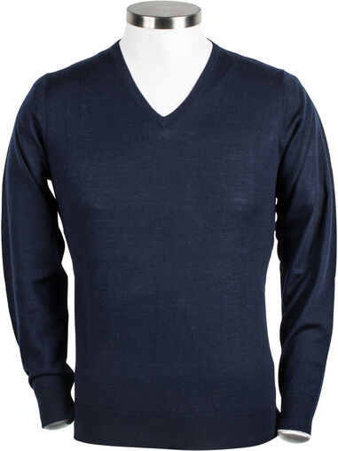 Giordano Heren trui blauw v-hals regular fit