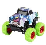 Wild Autocross monstertruck jongens 9 cm staal groen