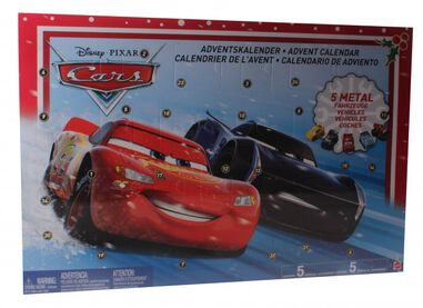 Mattel Disney Cars 3 adventskalender 24-delig