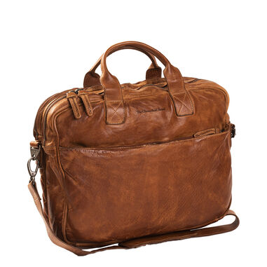 Chesterfield Amsterdam Laptopbag cognac
