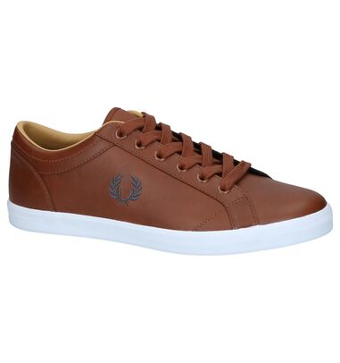 Cognac Casual Schoenen Fred Perry