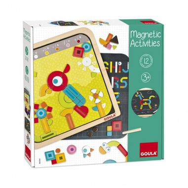 Goula Magnetic Activities magneetbord 29 x 29 cm 128-delig