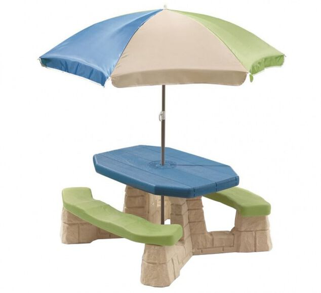 Step2 picknicktafel Playful Picnic met parasol 183 cm