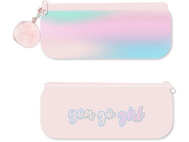 "Pretty Paradise etui bond ""you-go-girl"" pompom sleutelhanger"