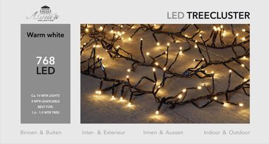 1,6-1,9m treecluster 10m/768led warm wit Anna's collection