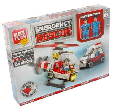Block Tech bouwpakket Emergency Rescue 135-delig