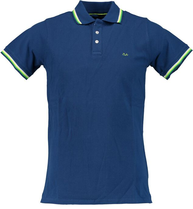 Born with Appetite Appetite sunny fancy polo pique 18108su32/240 blauw
