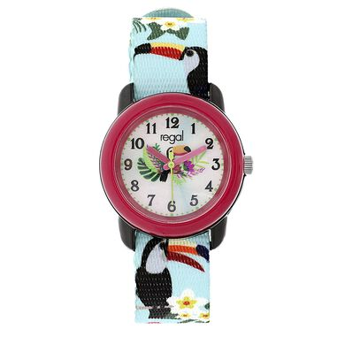 Regal kinder horloge met turquoise band
