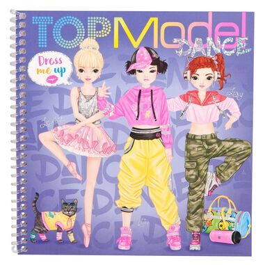 TOPModel Dress Me Up Stickerbook DANCE
