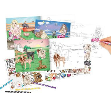 Miss Melody Colouring Book With Animals