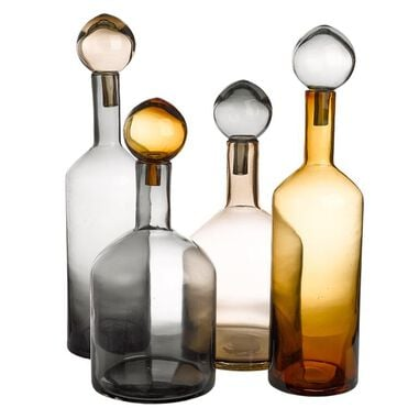 Pols Potten Bubbles & Bottles Chic Karaffen Set van 4