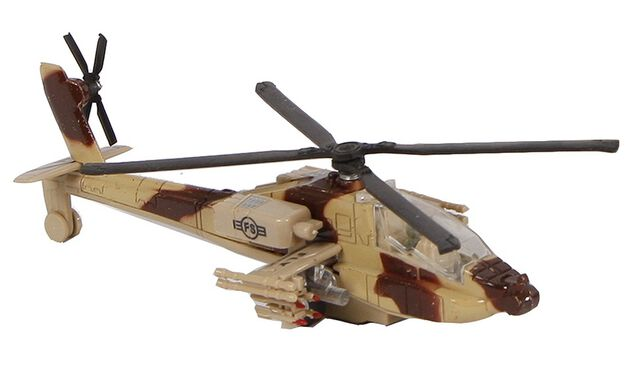 Mission Control militaire helikopter diecast pull-back 1:88 bruin