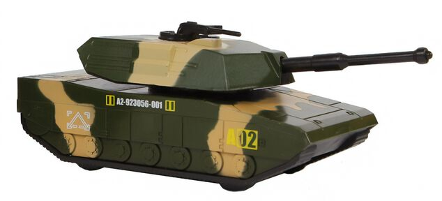 Mission Control militaire tank 1:64 diecast 12 cm groen/geel