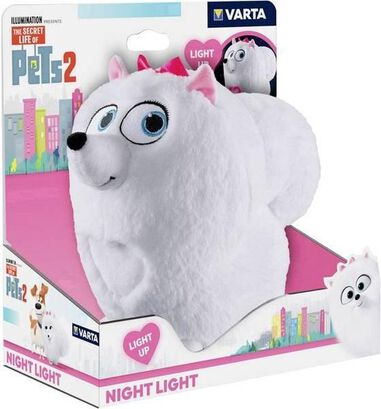 Hasbro Varta Secret Life of Pets pluche nachtlamp Gidget