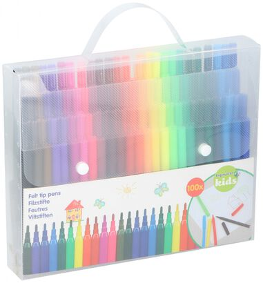 Topwrite Kids viltstiften junior multicolor 100 stuks