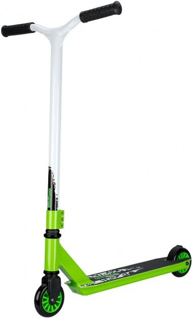 Stunt Scooter Junior Voetrem Wit/Groen