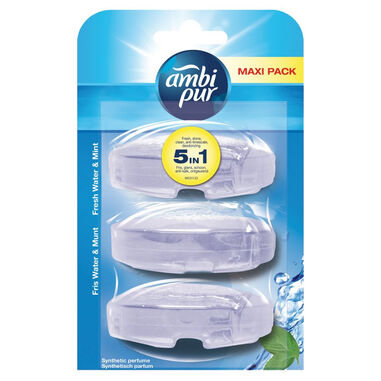 Ambi Pur Toiletblok Fresh Water & Mint Navulling - 3 x 55 ml