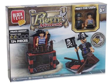 Block Tech bouwpakket Pirate Adventures 124-delig