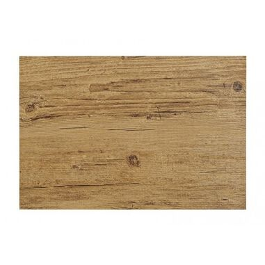6x Placemats in donkerbruin woodlook print 45 x 30 cm